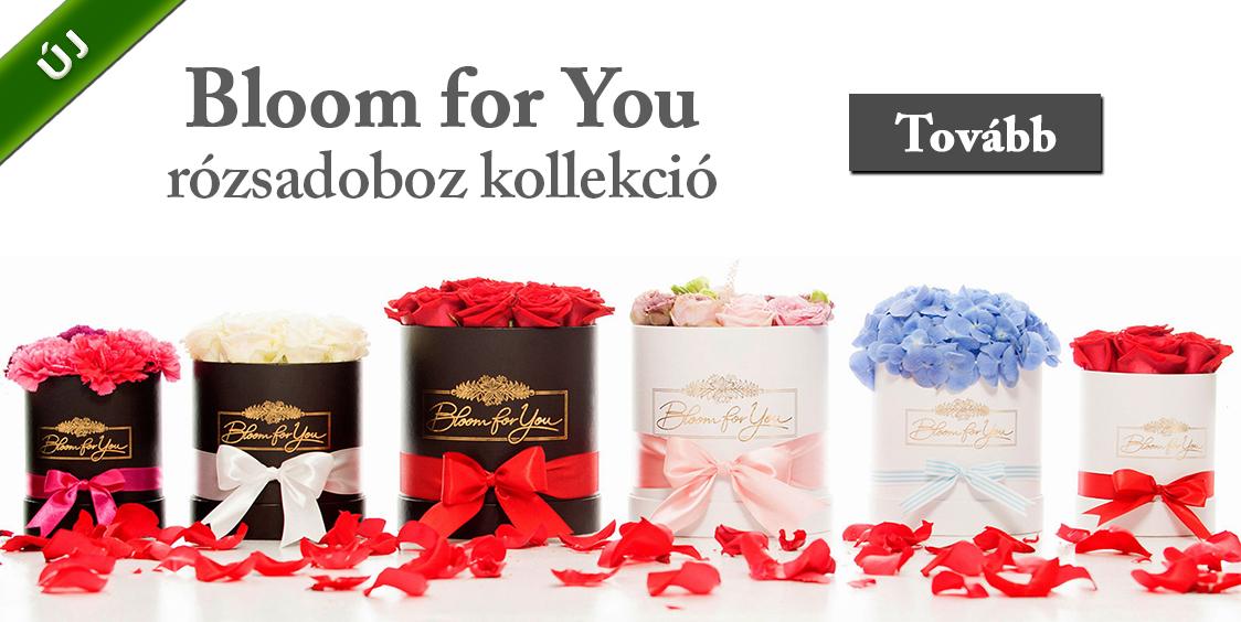Országosan küldhető exkluzív rózsadobozok - Mysterious Roses, Bloom for You - ÚJ
